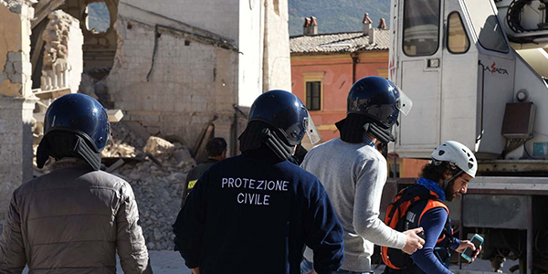 Civil protection during an intervention