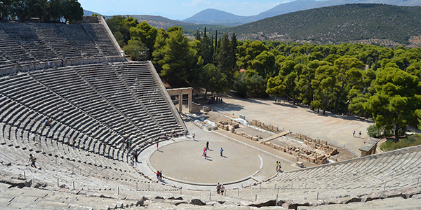 Ancient theatre of Epidaurus. Greece.