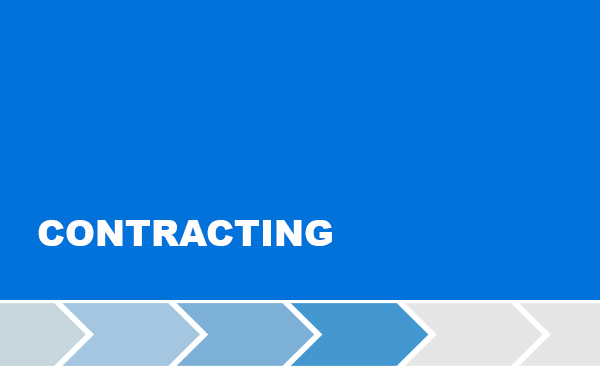 Fourth step for the implementation of the project: Contracting