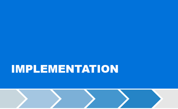 Third step of the project development: implementation