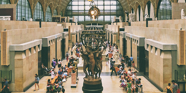 Museum of orsay with sculpture: The four parts of the world