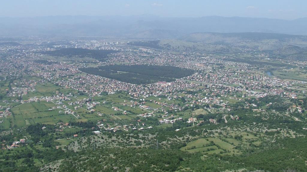 Podgorica top view