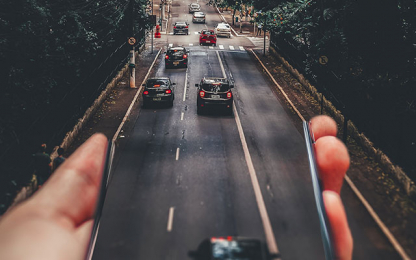 road in one hand