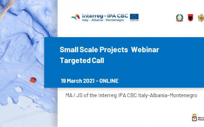 Small Scale Projects Webinar slide