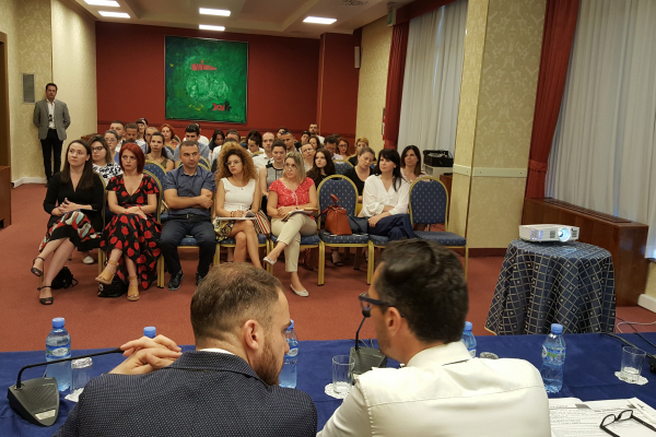 Audience attending the Tirana seminar